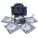 Picknick Rucksack mit Geschirr u Thermofach für 4 Personen